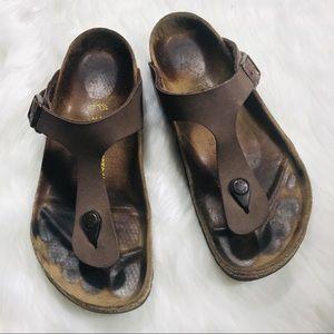 Birkenstock brown gizeh leather t strap sandal 39